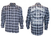Jack Daniels Black | Grey checks Shirt