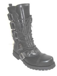 Mok boot black leather