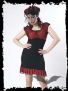 Black and Red Dress with Bows