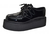 Double Sole Creeper Black Leather
