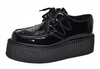 - Double Sole Creeper Black Leather