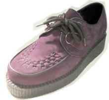 Steelground  Creeper single purple suede d-ring shoe shoe