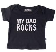 Dad Rocks Baby T Shirt