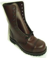 Steelground Steel 10 eye boot cherry leather