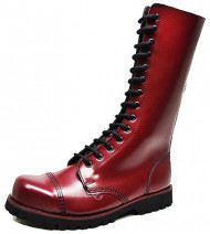 Steelcap boot - 14 eyes. Cherry box leather
