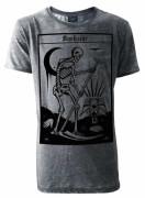 Death Tarot Card Mens Grey Burnout T-Shirt