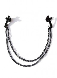 Black Inverted Cross Collar Chain
