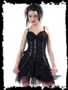 Black dress with latex strips