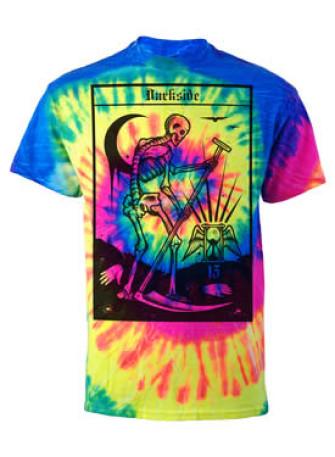- Death Tarot Card Neon Tie Dye T Shirt