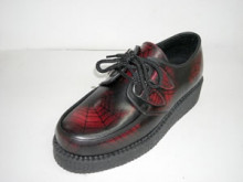 Steelground Single lace creeper shoe red spider rub off