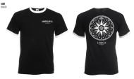 1755 Compass Logo Ringer Tshirt