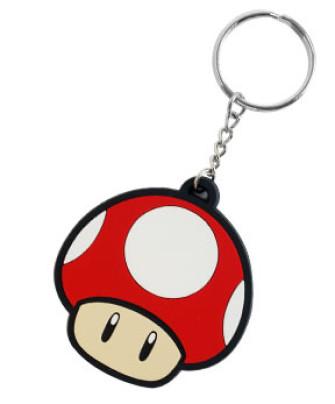 - Nintendo - Super Mushroom Rubber Key Chain