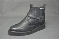 Texas boot soft cutted black leather