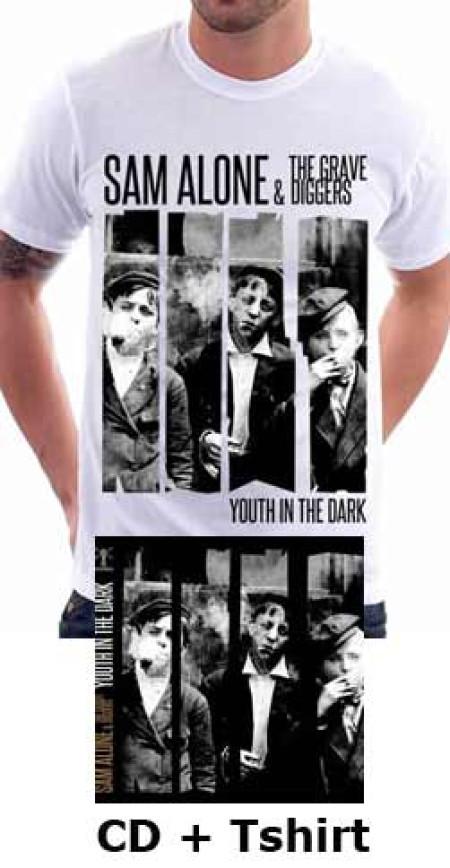 - Youth In The Dark (White) Tshirt + CD