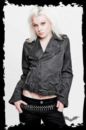 - Black double-breasted 'Brando' jacket