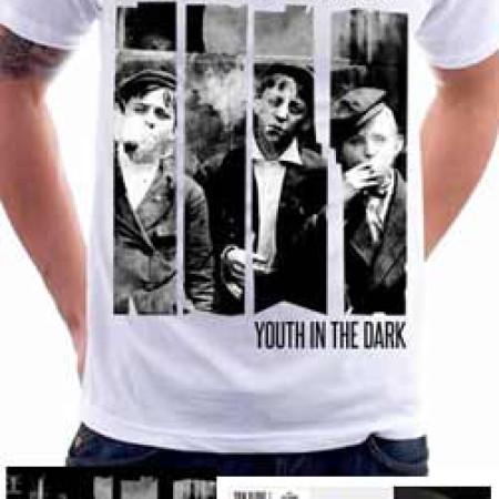 Youth In The Dark (White) Tshirt + CD + Vinil 7