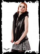 Reversible Hooded Vest with Furry