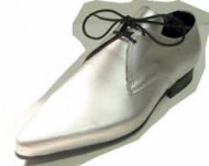 Steelground   Beat winklepicker shoe silver leather