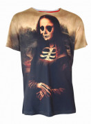 Mona Lisa Skeleton Mens T Shirt
