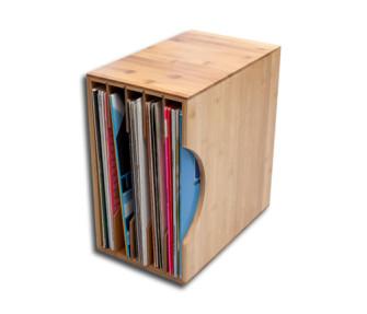 - LP Record box bamboo