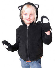 Black Kids Kitty Hood